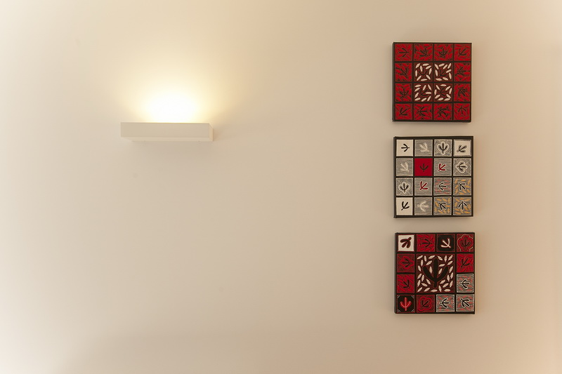 Eldonhurst - MELEC wall light and art work